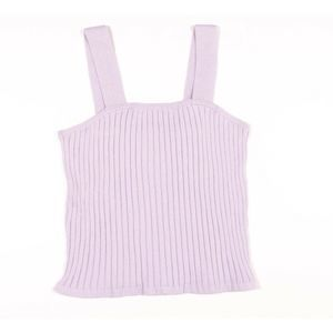 Madewell Tilney Ribbed Tank Top In Lilac Purple